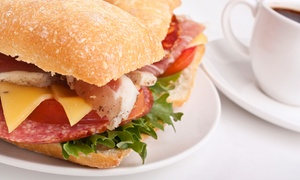 Between the Bread: Brunch for Two or Breakfast or Lunch for Takeout from Between the Bread (Up to 48% Off)