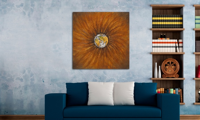 31 5x31 5 the world on a flower canvas wall art
