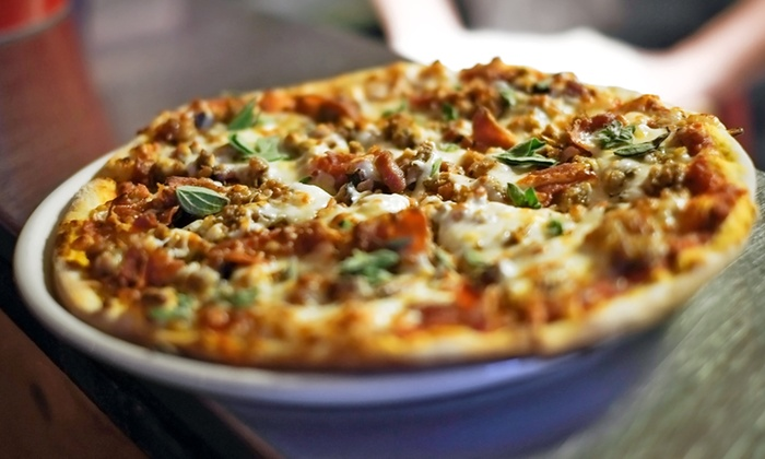 Slice & Co. - Ottawa: Personal Pizzas and Signature Mason Jar Cocktails or Beers, or Takeout or Delivery at Slice & Co. (Up to 52% Off)