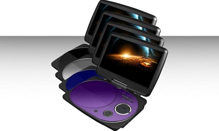 "9"" Swivel Screen Portable DVD Player: 9"" Swivel Screen Portable DVD Player. Multiple Colors Available. Free Returns."