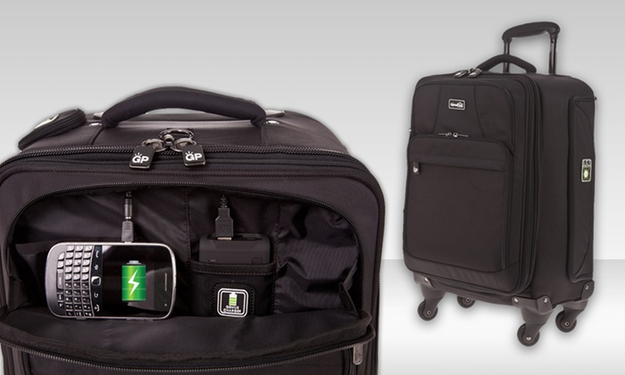 """$179.99 for a Genius Pack 22"""" Carry-On: $179.99 for a Genius Pack 22"""" Carry-On with Portable Mobile Charger ($336 List Price). Free Shipping and Returns."""