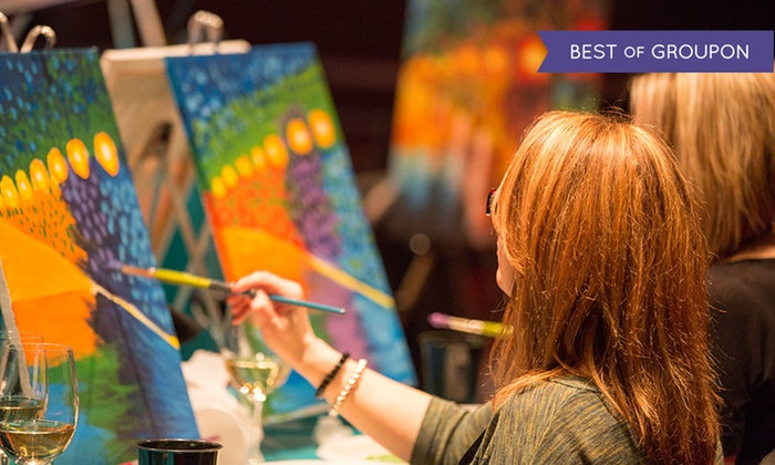 Cocktails 'n Canvas - Kitchener - Waterloo: One Admission to a Painting Party at Cocktails 'n Canvas (Up to 42% Off)
