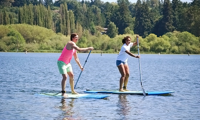 Northwest Paddle Surfers - Multiple Locations: Two-Hour Standup-Paddleboard Rental for One, Two, or Four from Northwest Paddle Surfers (Up to 53% Off)