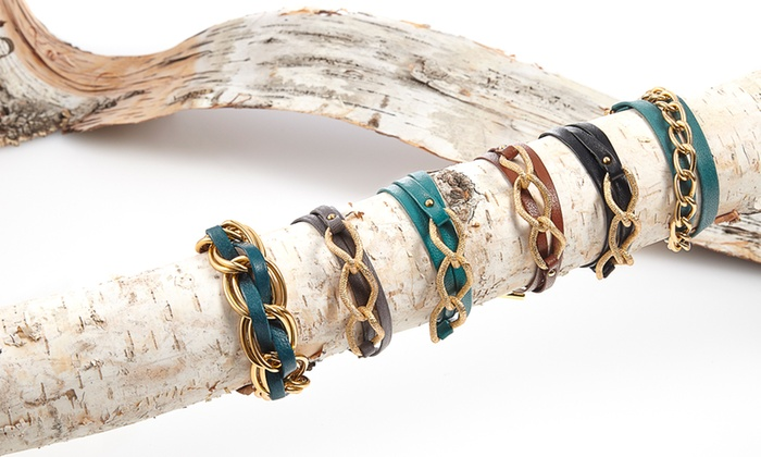 Gorjana: $24 for a Gorjana Women's Leather Bracelet ($55 List Price). Assorted Styles and Colors. Free Shipping and Returns.
