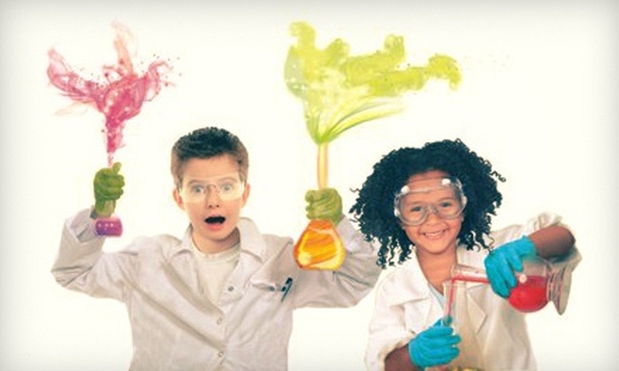 Mad Science Raleigh - Apex: Four-Hour Parents Night Out/Kids' Science and Bounce Party with Pizza Dinner from Mad Science (51% Off)