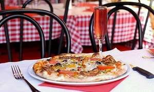 Pizza del Mondo, 18e: Kir ou cocktail exotique, pizza ou pâtes ou lasagnes au choix et dessert pour 2 personnes à 22,90 € à Pizza Del Mondo
