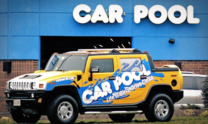 Car Pool Car Wash - Multiple Locations: One or Two Rainbow Wash Packages at Car Pool Car Wash (54% Off)