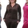 White Mark Women's Plus-Size 2-Piece Velour Set