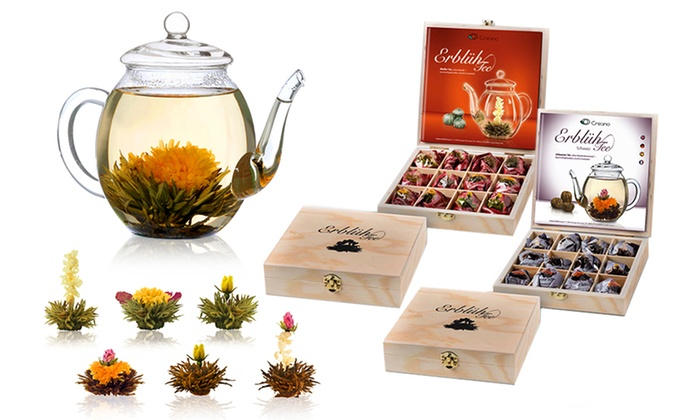 Groupon Goods Global GmbH: Choice of Six Flowering Abloom Tea Gift Sets from €14.99 (Up to 68% Off)