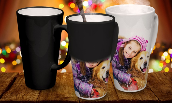 Printerpix: Custom Photo Latte Mug or Magic Mug from by Printerpix