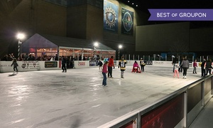 Patriot Place: Ice Skating with Skate Rentals and Food Vouchers for One, Two, or Four at Patriot Place (Up to 57% Off)