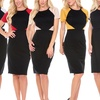 Women's Colorblock Bodycon Dress