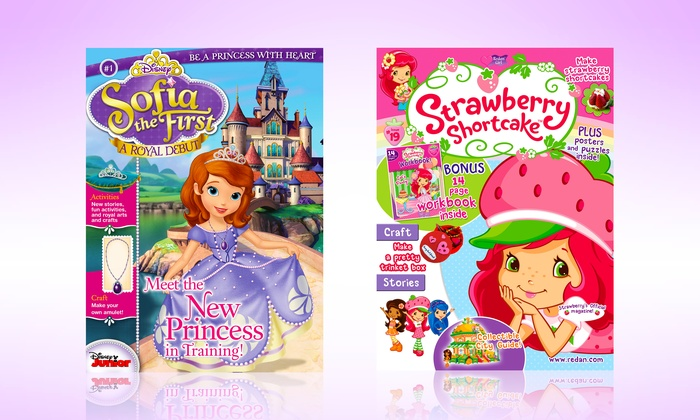 Strawberry Shortcake or Disney's Sofia the First Magazine: 1-Year Subscription to Strawberry Shortcake or Disney's Sofia the First Magazine