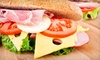 The Best Deli - Green Acres: Five Subs and Cups of Soup, or One 4-Foot Sub with a Large Salad Platter at Best Deli (Up to 59% Off)