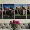 "18""x24"" Downton Abbey Framed Wall Art with Collectible Postage Stamp"