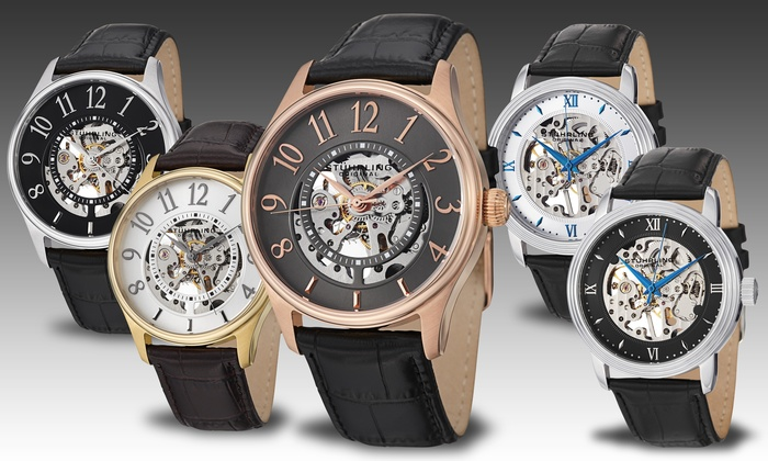 stuhrling men s skeleton watches groupon goods stuhrling men s skeleton automatic watch stuhrling men s skeleton automatic watch multiple styles available