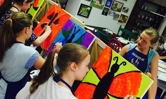 Elm Grove Art - Elm Grove: $90 for $150 Worth of Painting & Crafts Summer Camp at Elm Grove Art