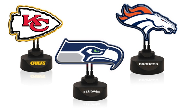 NFL Neon Logo Lamp: NFL Neon Logo Lamp. Multiple Teams Available. Free Returns.