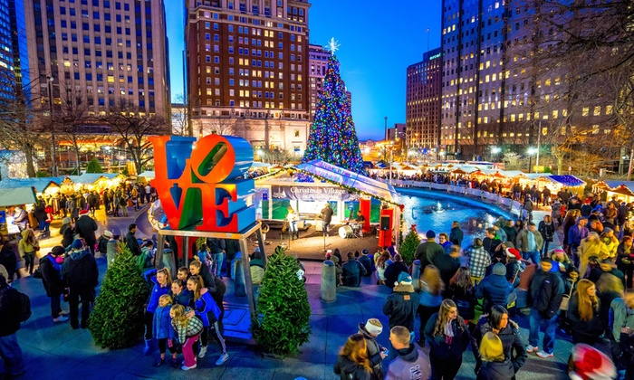 Christmas Village in Philadelphia - City Hall: Bratwursts and Drinks for Two or Four at the Christmas Village in Philadelphia (Up to 34% Off)