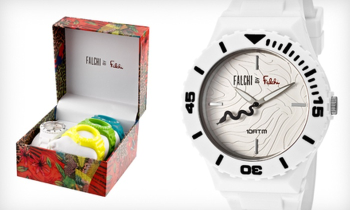 $29 for a Falchi by Falchi Women's Watch with Four Interchangeable Bands ($95 List Price)