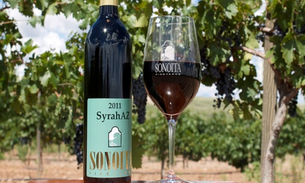 Wine Tasting with Souvenir Glasses for Two, Four, or Six at Sonoita Vineyards (40% Off)