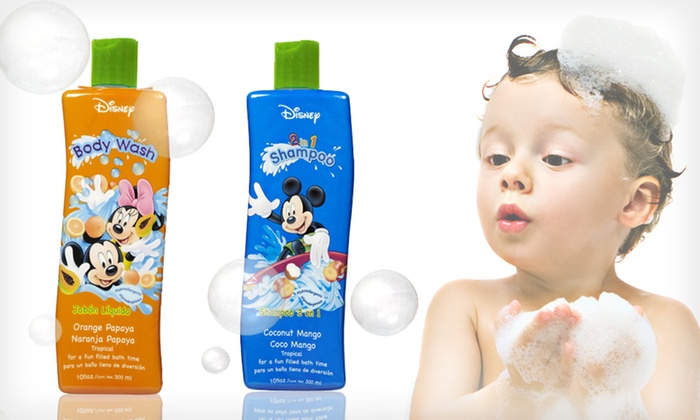 Mickey and Minnie Tropical Bath Bundle: $10 for a Mickey and Minnie Tropical Bath Bundle with Two-in-One Shampoo and Body Wash ($17.98 List Price)