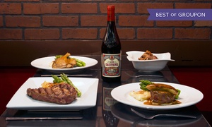 Bistro 1902: Upscale French Dinner for Two or Four with Wine at Bistro 1902 (Up to 49% Off)