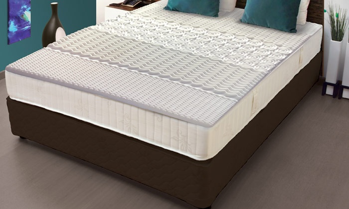 surmatelas 5 zones m moire de forme groupon shopping. Black Bedroom Furniture Sets. Home Design Ideas