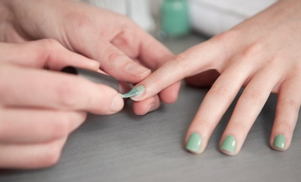 One or Two Mani-Pedis at Salon J-Elle (Up to 53% Off)