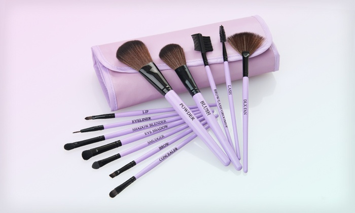 Beaute Basics 12-Piece Professional Brush Set: $19.99 for a Beaute Basics 12-Piece Lavender Professional Brush Set ($69.95 List Price)