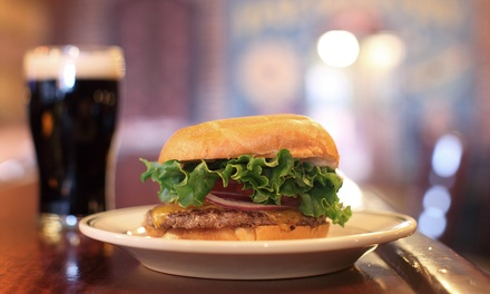 Upscale Pub Food and Drinks for Two or Four at Three Pints Brewpub (Up to 42% Off)