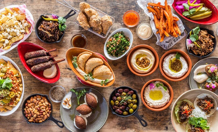 Mixed Platter, Dessert + Drinks for Two ($45) or Six People ($145) at Harbour Street Modern Lebanese (Up to $467 Value)