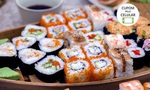 Sushi House – Vista Shopping: Sushi House – Vista Shopping: barca Big Boat com 56 peças + 2 rolinhos primavera para 2 pessoas