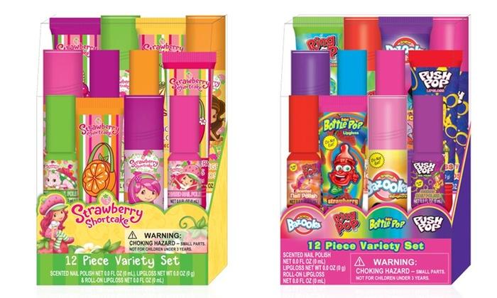 Girls' Strawberry Shortcake or Bazooka 12-Piece Cosmetics Set: Girls' Strawberry Shortcake or Bazooka 12-Piece Cosmetics Set