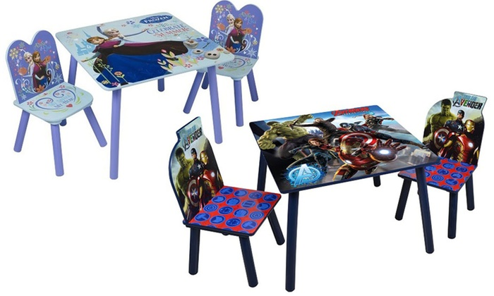 Groupon Goods Global GmbH Disney Character Folding Chair (£14.99) or Table and ...  sc 1 st  Groupon : avengers table and chair set - pezcame.com