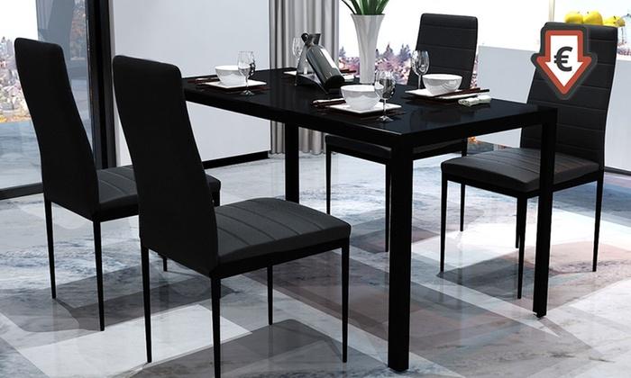Eettafel met stoelen groupon goods