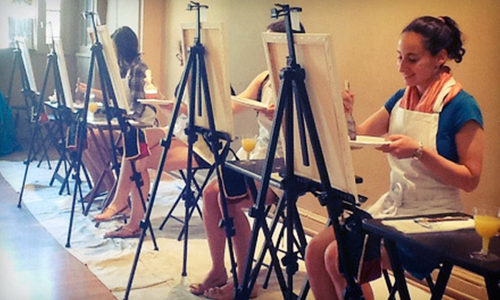 Merlot's Masterpiece - U Street - Cardozo: Adult Art Class for One or Two with Wine at Merlot's Masterpiece (Up to 55% Off)