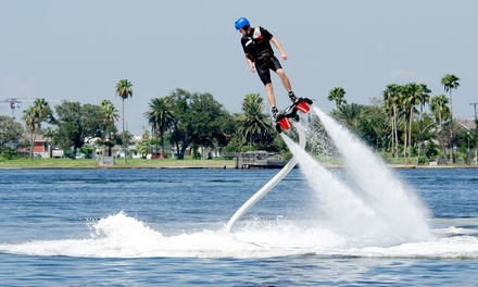 20- or 45-Minute Flyboarding Flight Plus Introductory Training Session at Extreme Water Sports (Up to 43% Off)