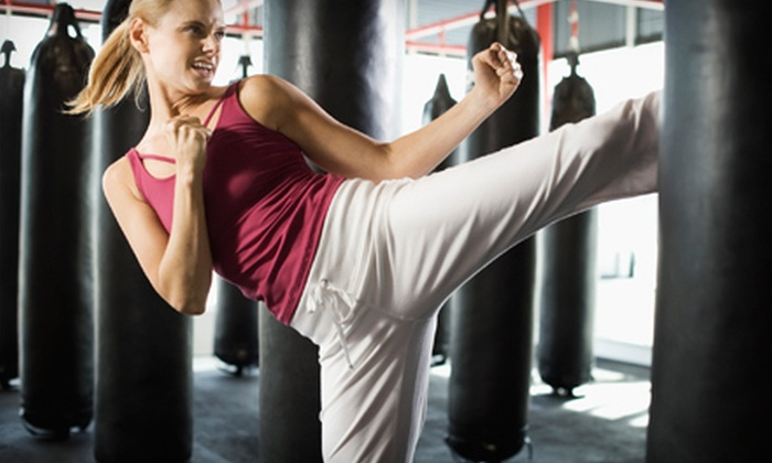 Round 2 Kickboxing - University Drive: 4 or 10 Kickboxing Classes and One Personal-Training Session at Round 2 Kickboxing (Up to 74% Off)