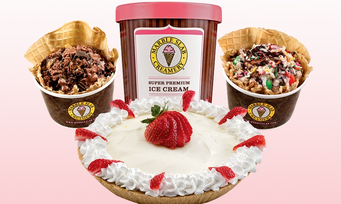Marble Slab Creamery - Multiple Locations: Twin Treat Pack, Ice Cream Pies, or Ice Cream Cakes at Marble Slab Creamery (Up to 45% Off)