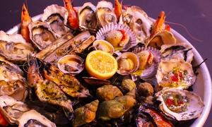 L'enclos de saveurs salines: Soupe de favouilles et plateau de fruits de mer pour 2 personnes à 49,90 € à L'enclos de Saveurs Salines