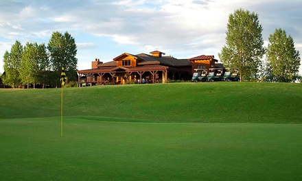 Golf Package for Two with Range Balls and Lunch at Deer Creek Golf Club (Up to 39% Off). Two Options Available.