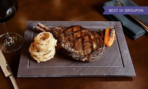 Cove Steakhouse: Steakhouse Fare, Free Play and Valet Parking at Harrah's (Up to 47% Off). Two Options Available.