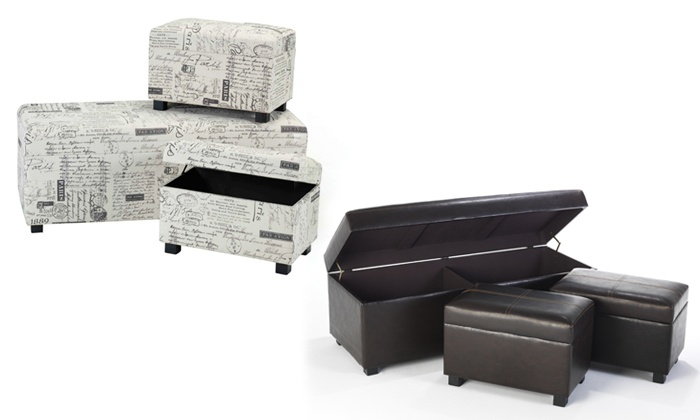 Cielo Lifestyle: Three-Piece Ottoman Sets for R1 599.99 Including Delivery (54% Off)