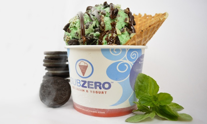 Sub Zero Ice Cream & Yogurt - Multiple Locations: Ice Cream and Fro-Yo at Sub Zero Ice Cream & Yogurt (Up to 50% Off). Two Options Available.