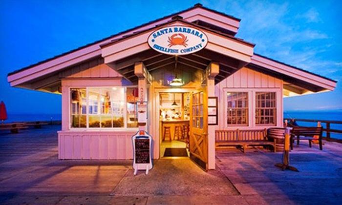 Santa Barbara Shellfish Company - Stearns Wharf: Seafood and Drinks at Santa Barbara Shellfish Company (Half Off). Two Options Available.