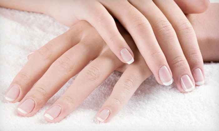 Jamie Larson at Salon Ne-Zhoni - Sioux Falls: One Shellac Manicure or One or Two Spa Manicures with Paraffin Dips from Jamie Larson at Salon Ne-Zhoni (Up to 53% Off)