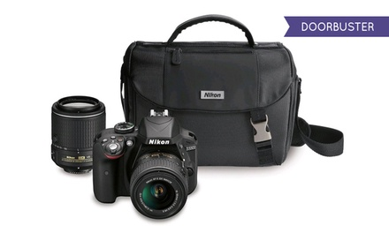 Nikon D3300 24.2MP 1080p HD DSLR with 1 or 2 Lenses