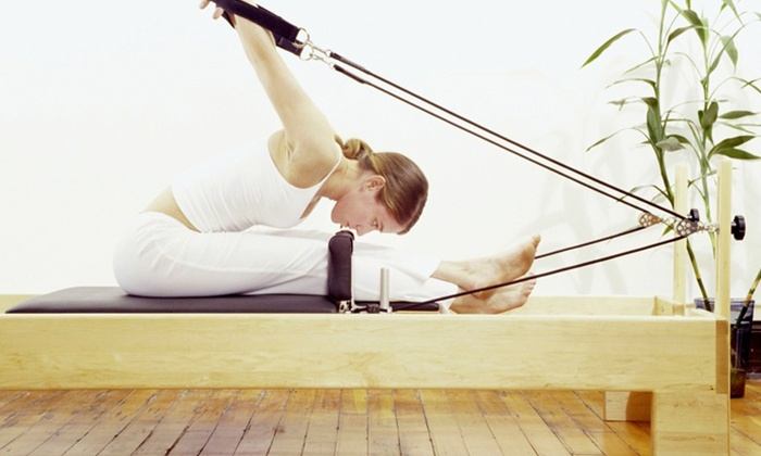 Stage Fit-Vegas - Canyon Gate: Five Group or Three Private Pilates Classes at Stage Fit-Vegas (48% Off)