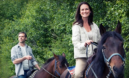 One 60-minute semi-private horseback-riding lesson